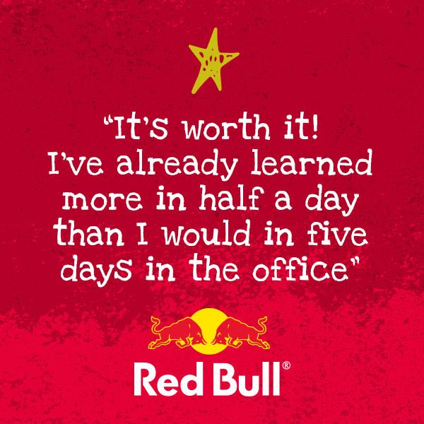 Red Bull testimonial