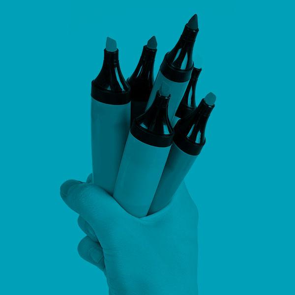 Paper, pens, phone